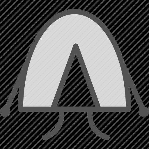 camp, round, tent, travel icon