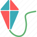fly, fun, kids, kite, relax icon