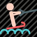 navigate, people, ski, sport, water icon