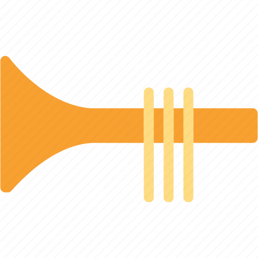 fanfare, instrument, music, trumpet icon