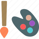 artist, colors, draw, paint, tools icon