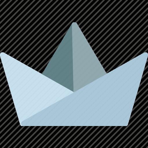 Boat Origami Paper Sail Icon
