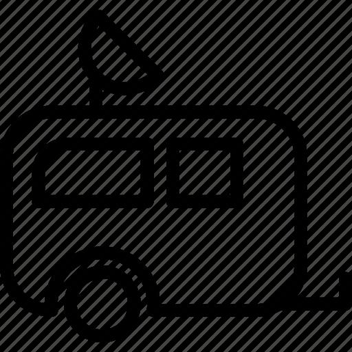 car, road, room, rulote, travel, trip icon