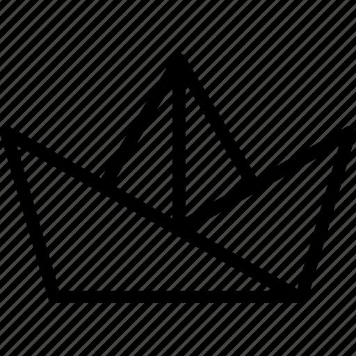 boat, origami, paper, sail icon