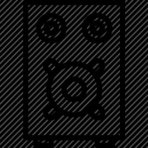 bass, listen, rock, sound, speaker icon