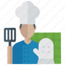 baker, chef, cook, male cook, waiter icon