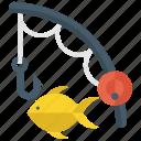catching fish, fishery, fishing, freshwater fishing, hunting, leisure activity icon