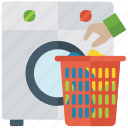 cleaning, cloth dryer, laundering, washing, washing clothes icon