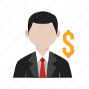 accountant, banker, client, dealer, financial dealer, money icon