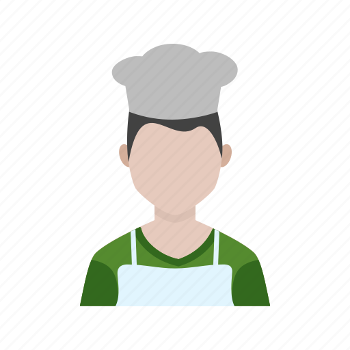 apron, chef, cook, cooking, male, man, restaurant icon
