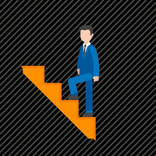 climbing climbing stairs man stairs upwards walking icon