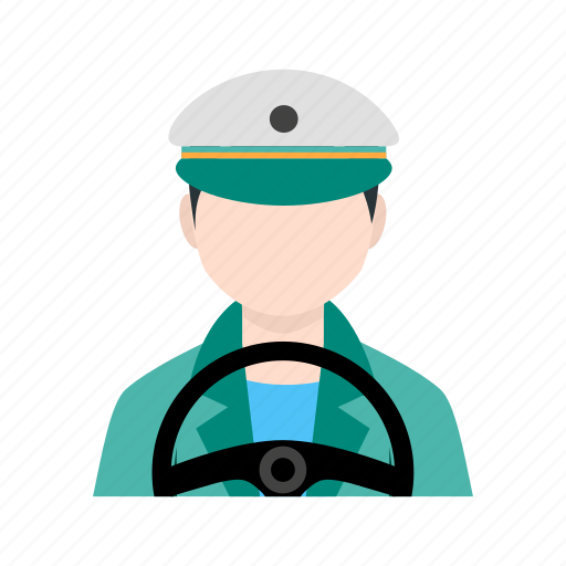 bus driver, drive, driver, driving, male driver, transporter icon