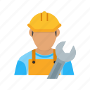 builder, civil engineer, construction engineer, engineer, man, worker icon