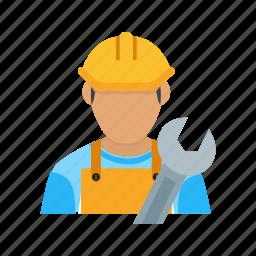 builder, civil engineer, construction engineer, engineer, man, worker icon