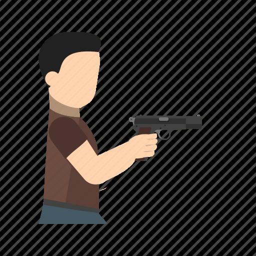 arm, crime, gun, hand, hold, pistol, weapon icon