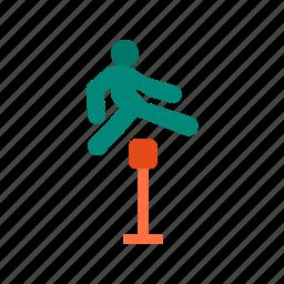 aerobics, happy, jump, jumping, man, people, running icon