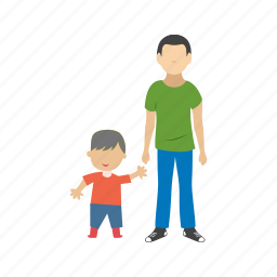 boy, child, children, family, happy, kids, standing icon