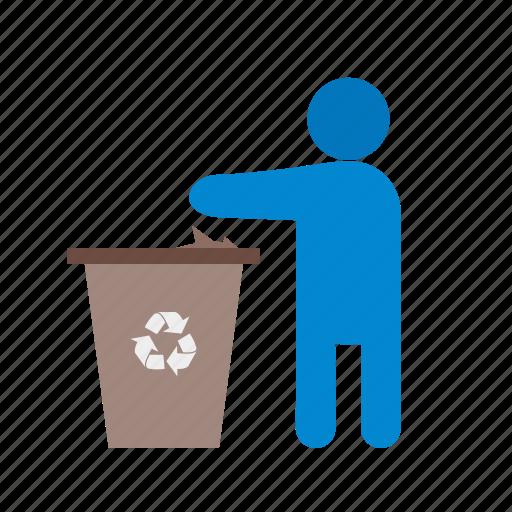 bin, garbage, litter, recycling, rubbish, throwing, trash icon