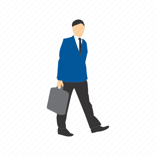 briefcase, business, case, corporate, holding, walk, walking icon