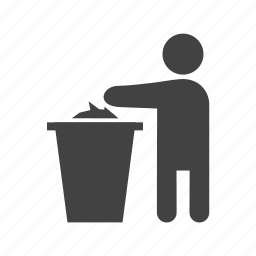bin, garbage, litter, recycling, rubbish, throwing, trash icon