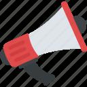 announcement, communication, loudspeaker, megaphone, promotion