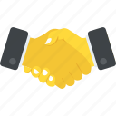 agreement, business deal, contract, men handshaking, project partnership icon