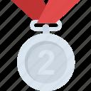 achievement, championship, gold medal, second placement, success