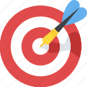 archery, business target, dartboard game, goal achievement, target icon