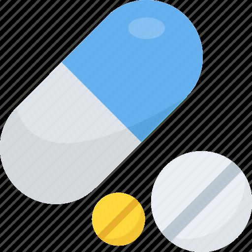 capsules, medical drugs, medication, medicines, prescription icon