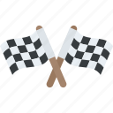 checkered flag, flag, racing flag, sports finish line, sports flag icon