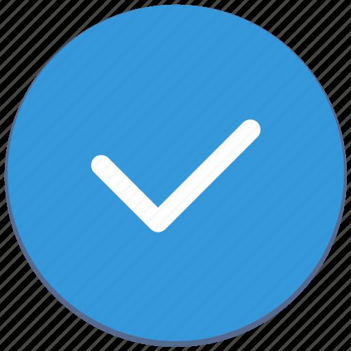 accept, action, confirm, design, material icon