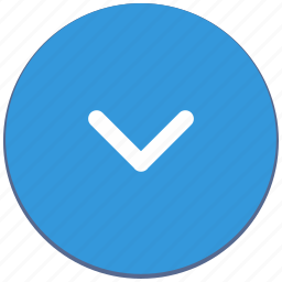 arrow, bottom, design, down, material, navigation icon
