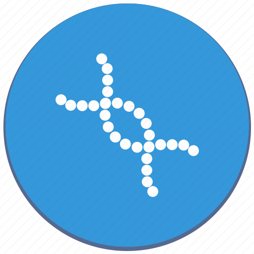 biology, chain, code, design, dna, material icon