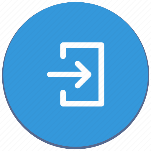action, design, exit, function, material icon
