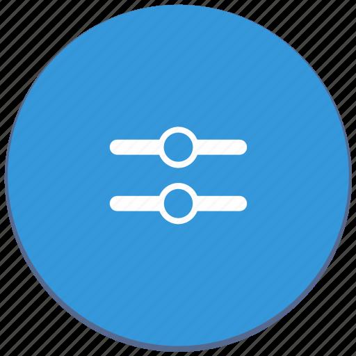 design, horizontal, level, material, medium, option icon
