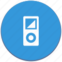 design, device, ipod, material, music, player icon