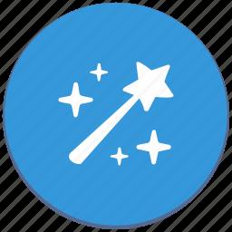 design, instrument, magic, material, wand icon