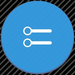 design, level, material, minimum, settings icon