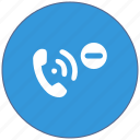 call, design, down, level, material, minus, mobile icon