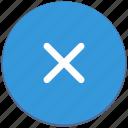 close, delete, design, material, navigation