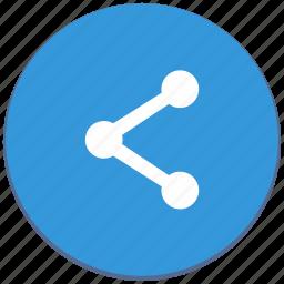 design, href, link, material, share, social, url icon