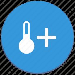 climate, design, function, material, plus, temperature icon