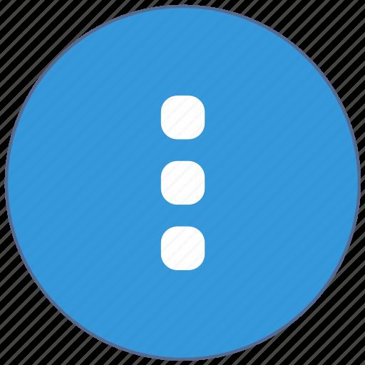additional, design, material, menu, vertical icon