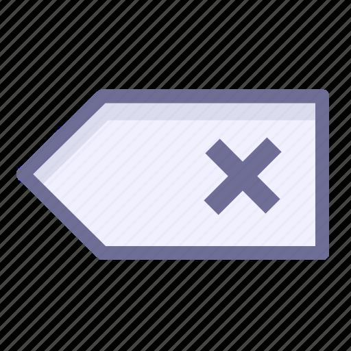 back, clear, delete, remove icon