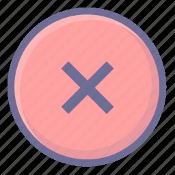 delete, remove, wrong icon