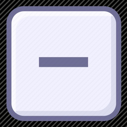 hide, minimize, remove icon
