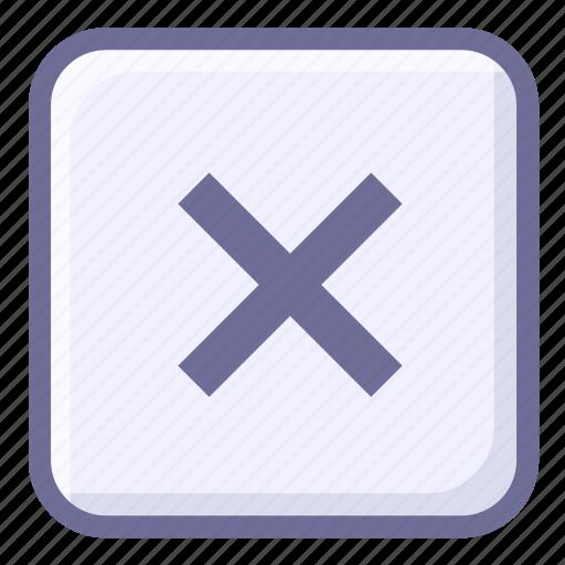 cancel, clear, delete, remove, termination icon