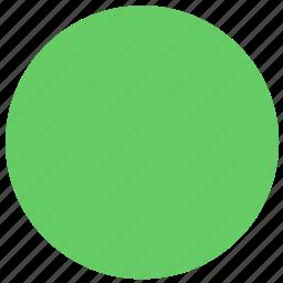 circle, ellipse, green circle, green ellipse, shape icon