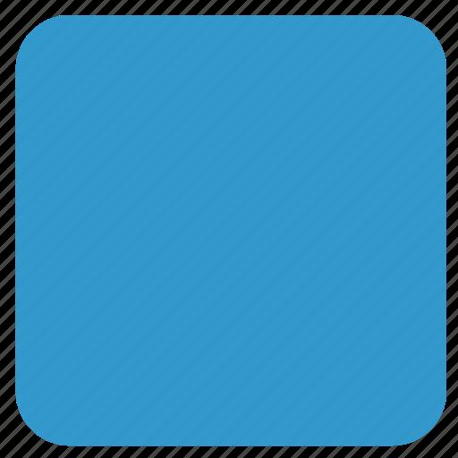 blue rectangle, rectangle, shape icon
