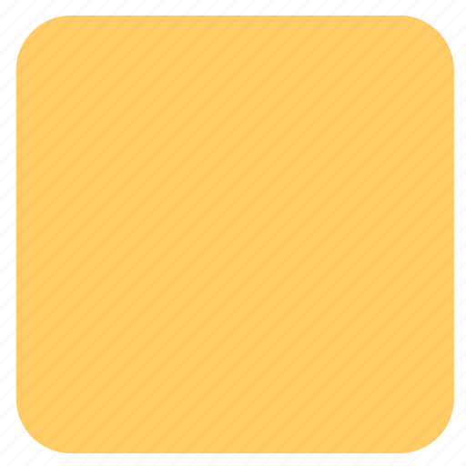 rectangle, shape, yellow rectangle icon